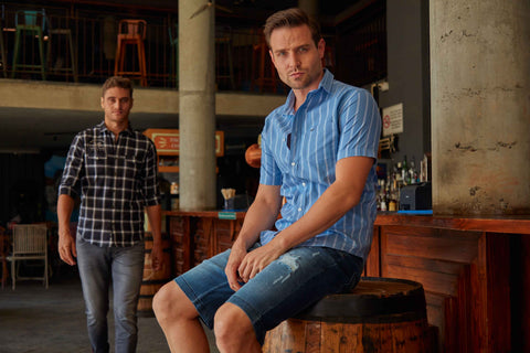 short sleeve cotton casual with shorts