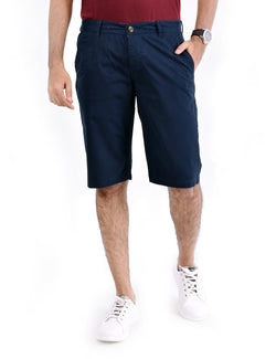 ADNOX Men's Shorts - Pure Cotton (Navy Blue)