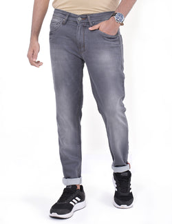 ADNOX Simple Gradient-Shaded Jeans for Men (Grey)