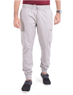 ADNOX Cotton Joggers for Men (Light Grey)
