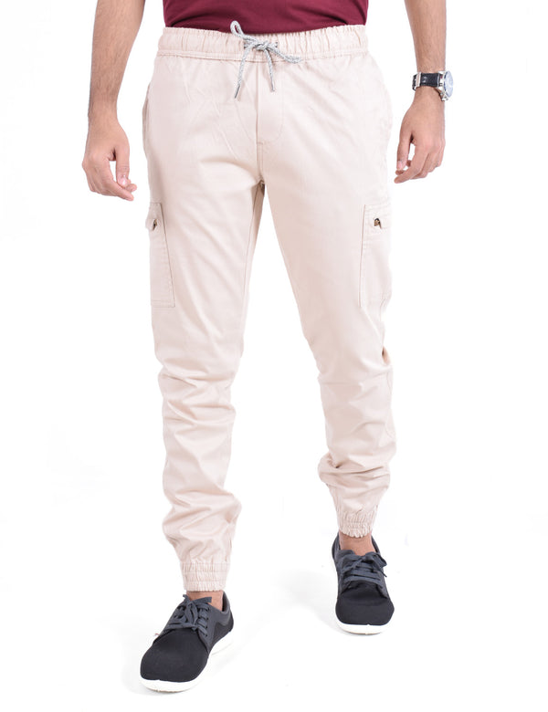 ADNOX Mens Cotton Joggers (Light Khaki)