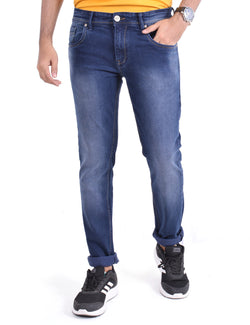 ADNOX Men's Simple-Shaded Jeans (Navy Blue)