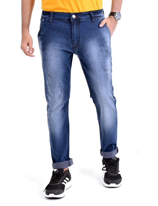 ADNOX Simple Shaded Jeans for Men (Royal Blue)