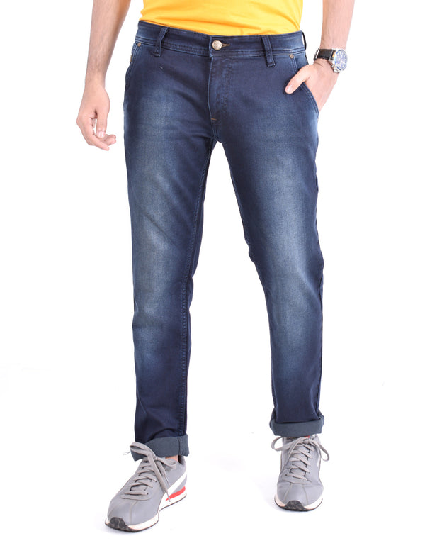 ADNOX Men's Slightly Shaded Jeans (Dark Blue)