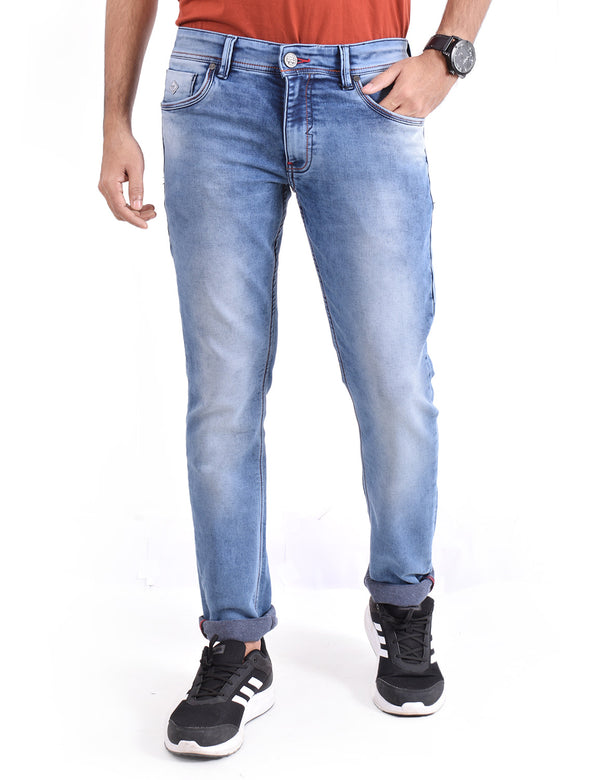 ADNOX Cool Shaded Jeans for Men (Light Blue)