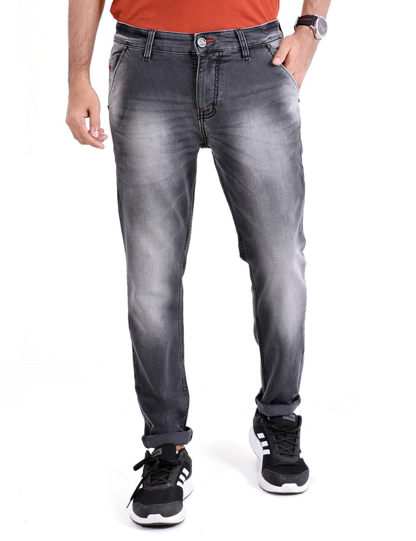 ADNOX Mens Wrinkle-Shaded Jeans (Grey)