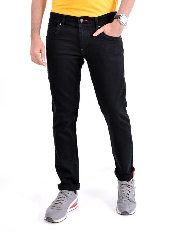 ADNOX Casual Solid Jeans for Men (Black)