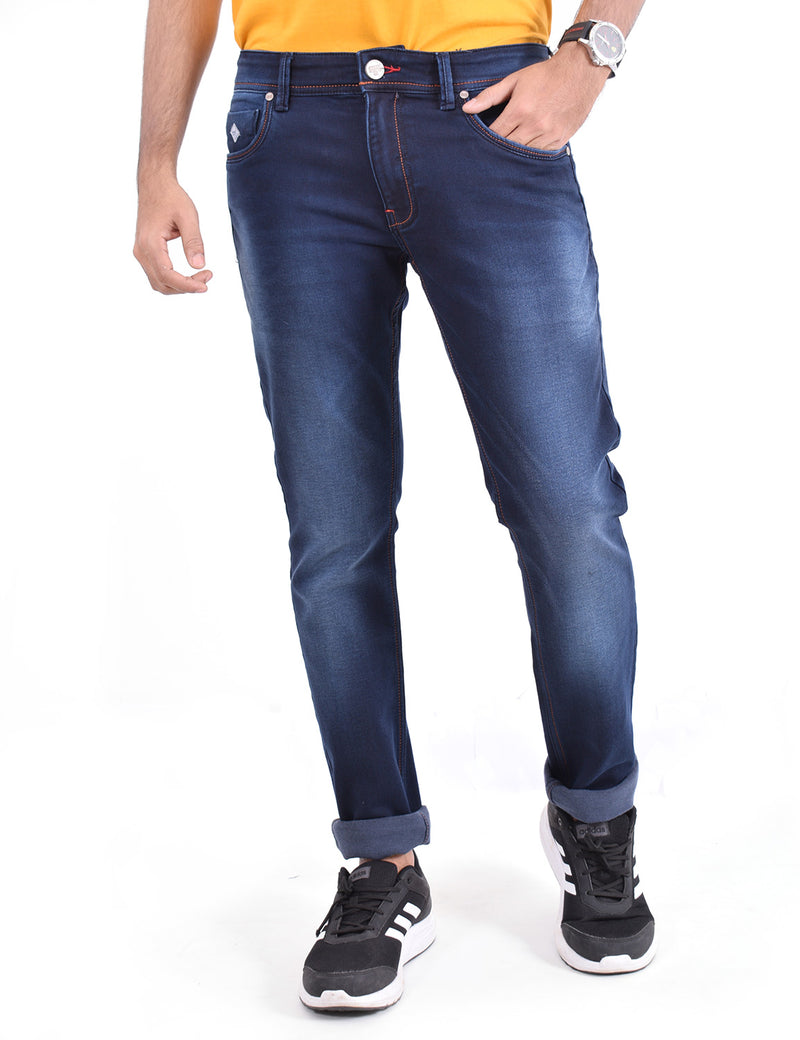 ADNOX Cool Shaded Jeans for Men (Dark Blue)