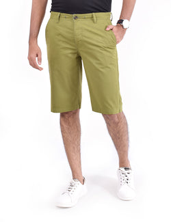 ADNOX Men's Shorts - Pure Cotton (Olive Green)