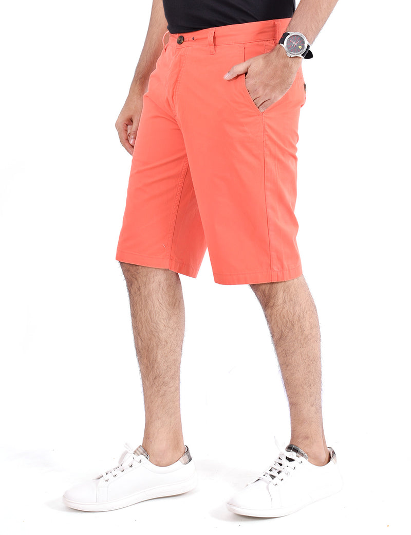 ADNOX Men's Shorts - Pure Cotton (Dark Peach)