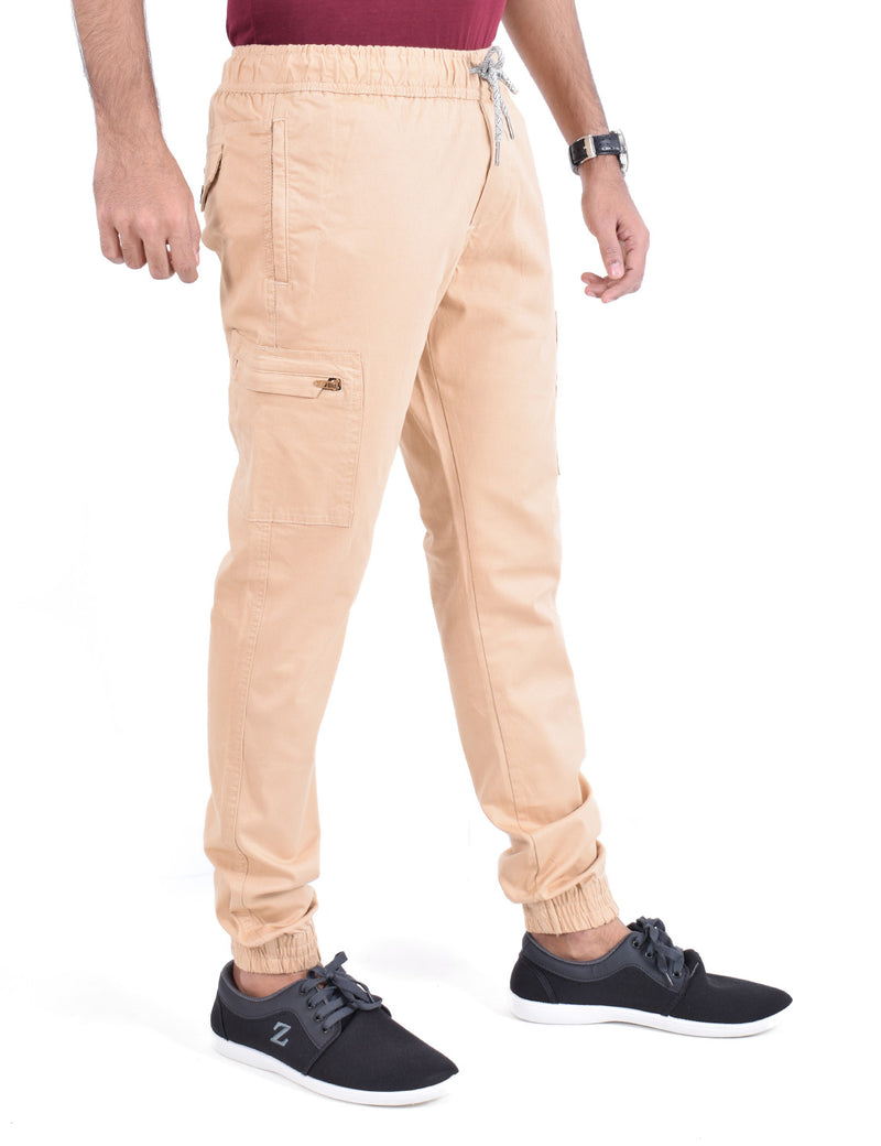 ADNOX Mens Cotton Joggers (Khaki)