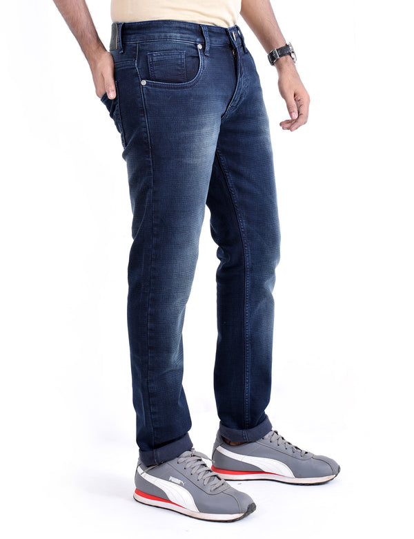 ADNOX Men's Slightly Wrinkle-Shaded Jeans