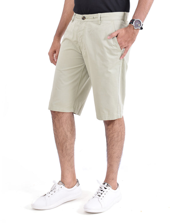 ADNOX Men's Shorts - Pure Cotton (Off Green)