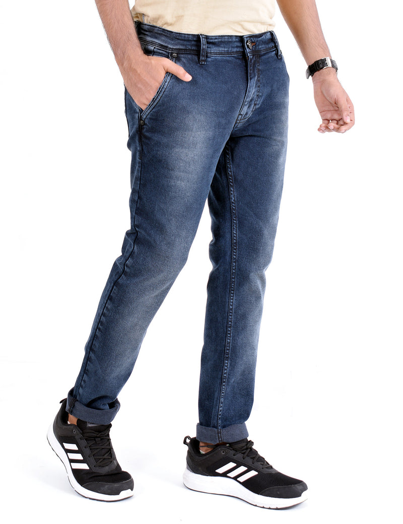 ADNOX Simple Shaded Jeans for Men (Dark Blue)
