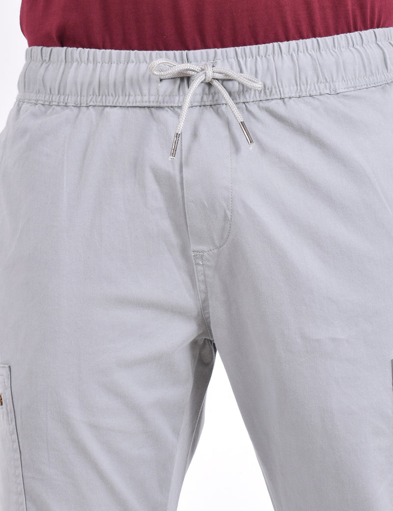 ADNOX Cotton Joggers for Men (Silver Grey)