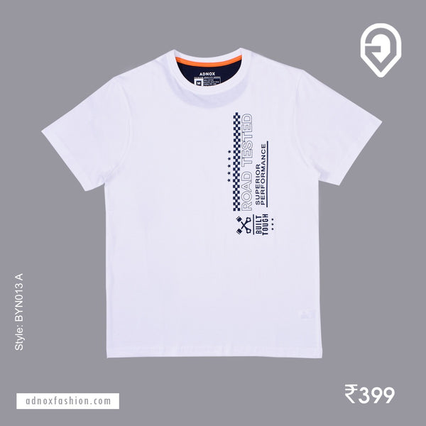 Round Neck White Designer T-Shirt