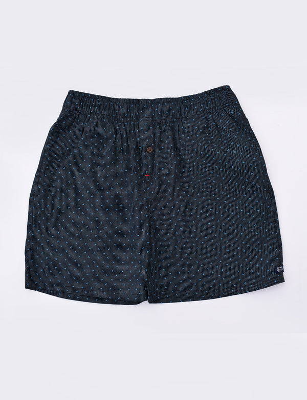 ADNOX Men's Printed Cotton Boxer (Navy Blue)