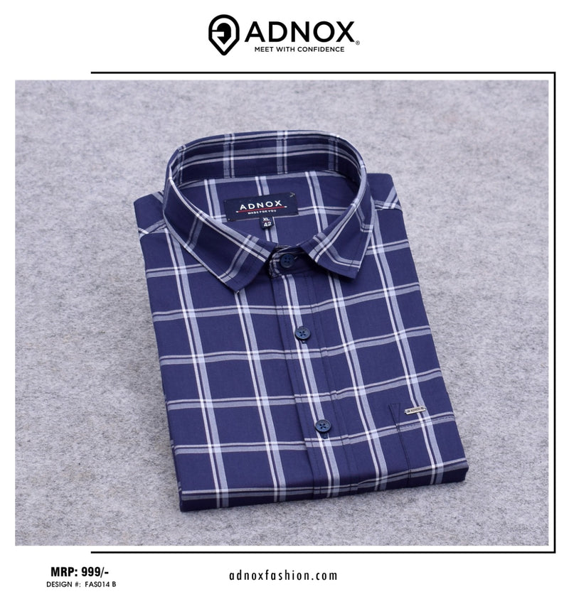 Blue Checkered Shirt for Men