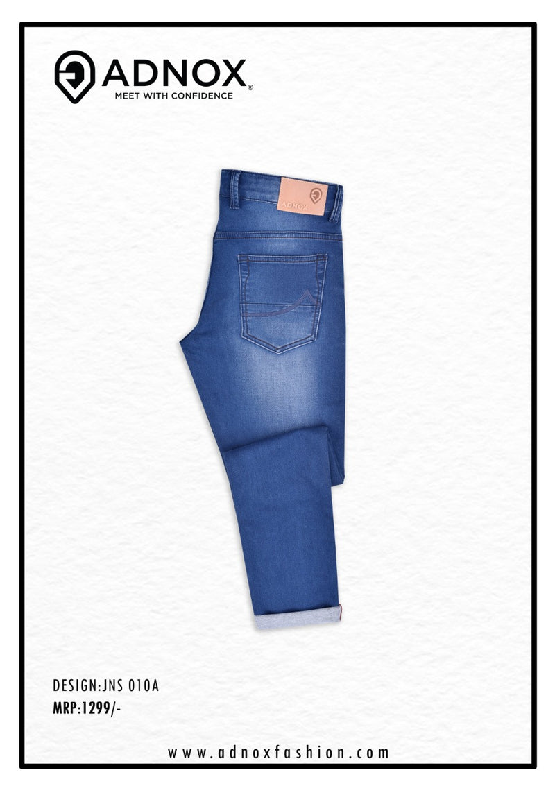 Royal Blue Shaded Jeans