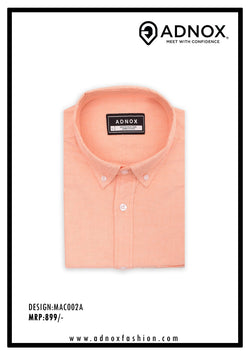 Light Orange Solid Shirt for Men