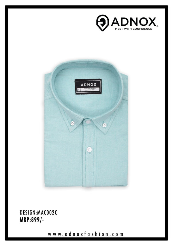 Pastel Green Solid Shirt for Men