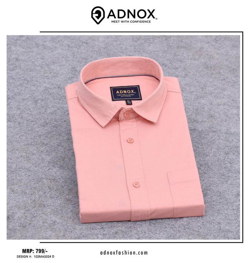 Pastel Orange Solid Shirt