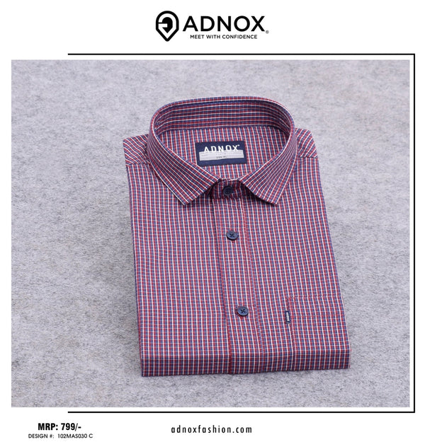 Red Checkered Shirt For Men