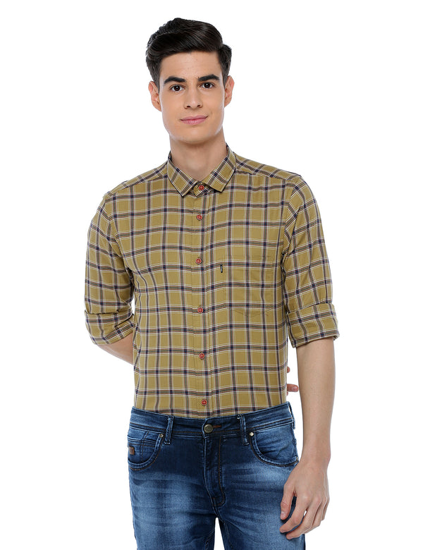 ADNOX Checkered Slim Fit Full Sleeve Casual Cotton Shirt for Men