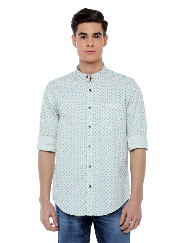 ADNOX Printed Full Sleeve Slim Fit Casual Shirt for Men