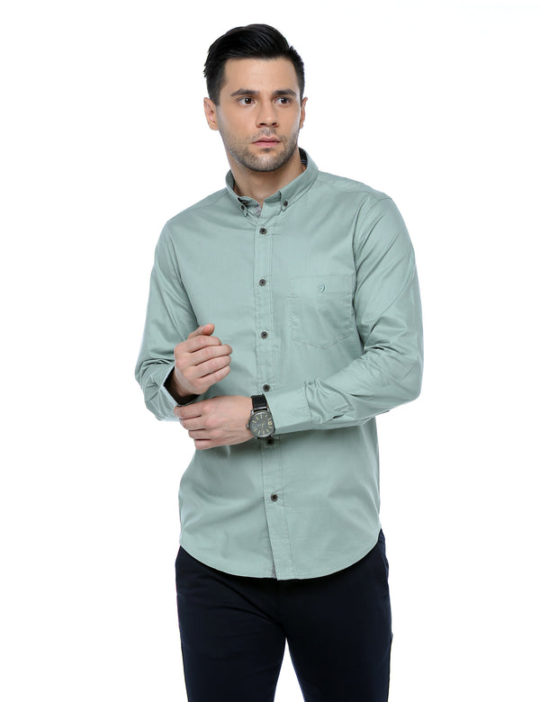 ADNOX Plain Casual Full Sleeve Cotton Slim Fit Shirt for Men