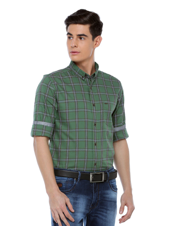 ADNOX Checkered Full Sleeve Casual Slim Fit Cotton Shirt for Men