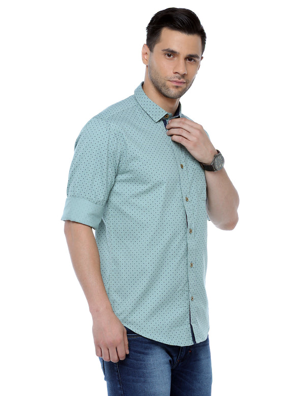 ADNOX Men's Printed Full Sleeve Cotton Slim Fit Casual Shirt