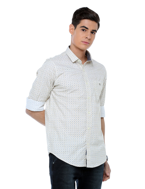 ADNOX Men's Printed Casual Full Sleeve Slim Fit Cotton Shirt