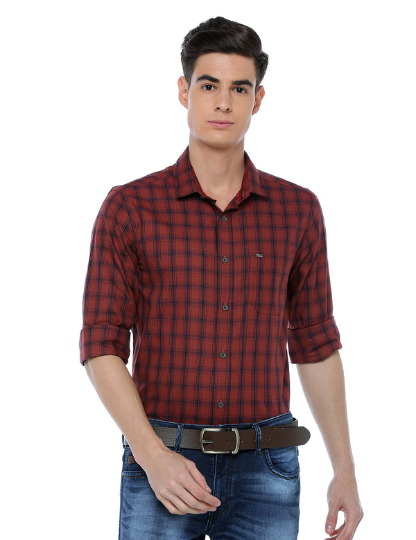 ADNOX Men's Checkered Full Sleeve Casual Cotton Slim Fit Shirt