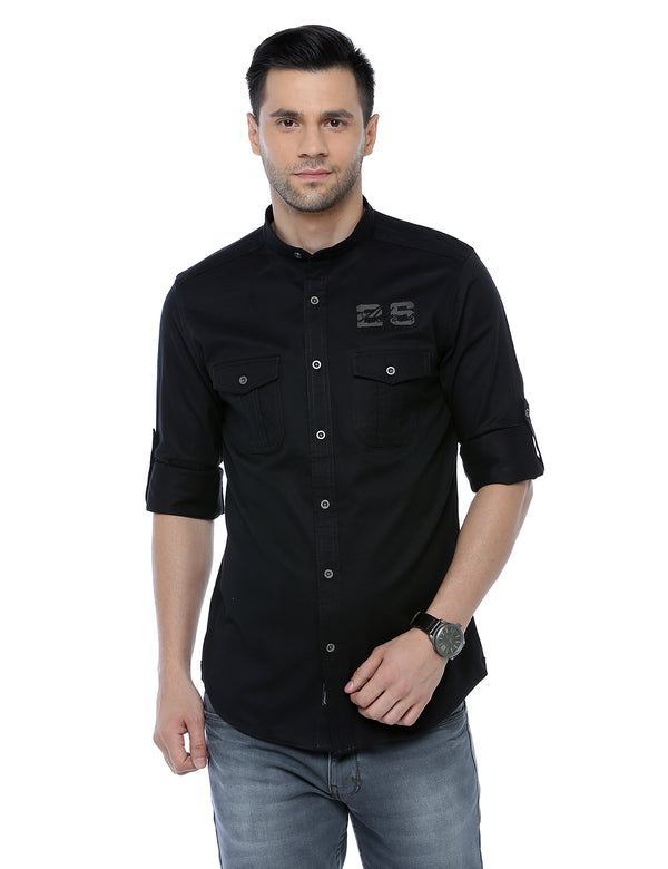 ADNOX Designer Plain Casual Full Sleeve Cotton Slim Fit Shirt for Men
