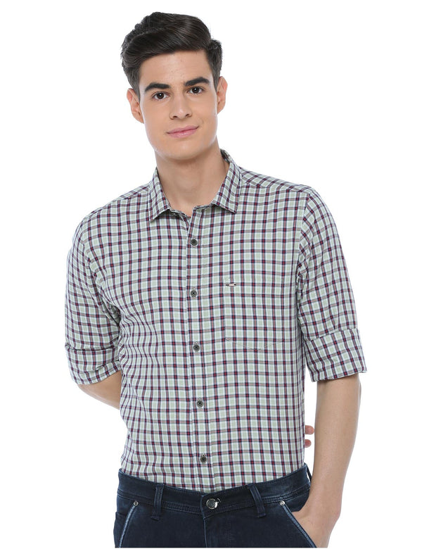 ADNOX Checkered Casual Cotton Full Sleeve Slim Fit Shirt for Men