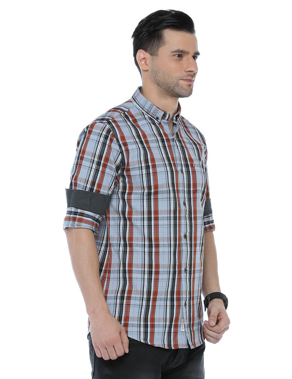 ADNOX Checkered Full Sleeve Cotton Casual Slim Fit Shirt for Men