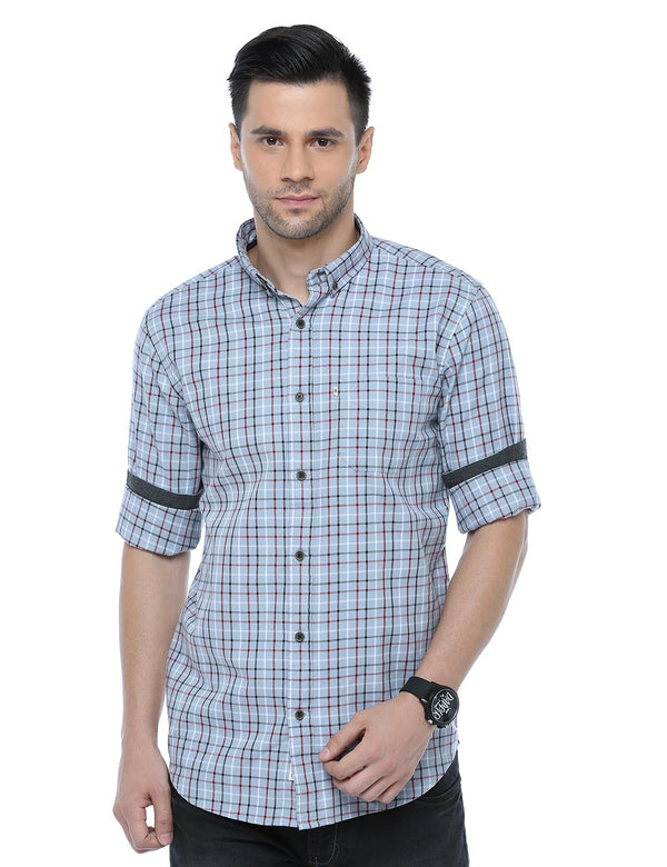 ADNOX Checkered Casual Full Sleeve Slim Fit Cotton Shirt for Men