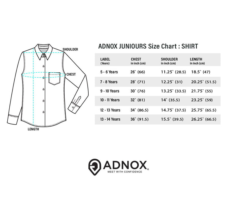 ADNOX Junior Boys' Designer Plain Cotton Full Sleeve Shirt (Army Green)