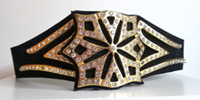 Load image into Gallery viewer, Vintage Rhinestone Heroine Belt