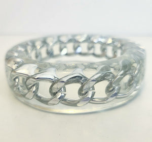 Chainlink Clear Lucite Bangle