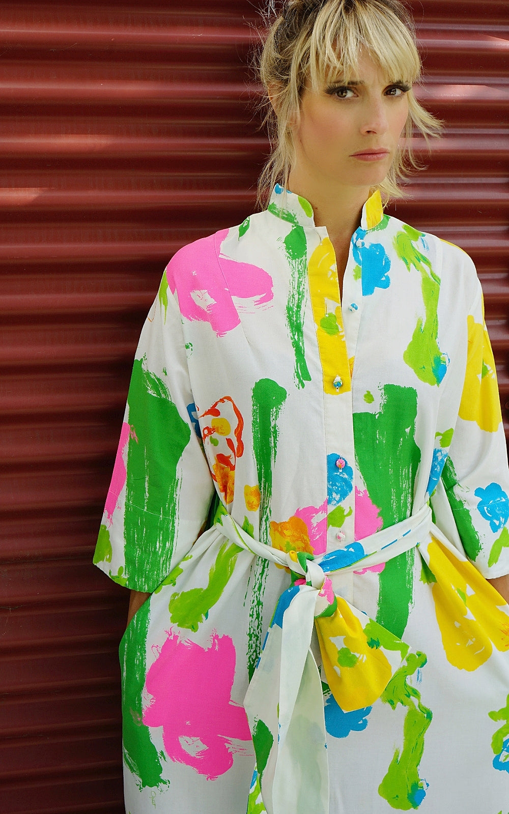 Vintage Catherine Ogust Kaftan Dress