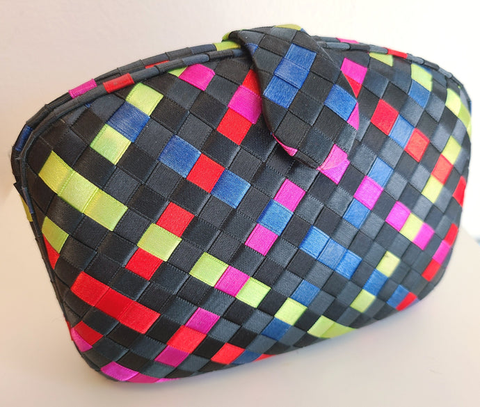 Vintage Multi-Color Woven Clutch