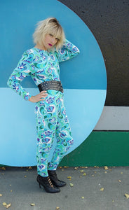 Vintage Psychedelic Print Catsuit