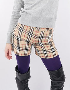 Burberry Nova Check Fitted Shorts