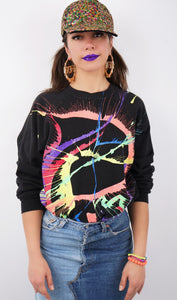 Vintage Splatter Paint Sweatshirt