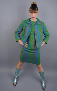 Vintage 1960's Shift Dress With Matching Jacket
