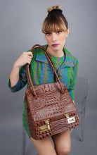 Load image into Gallery viewer, Vintage Embossed Croc Doctor Handbag