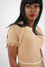 Load image into Gallery viewer, Vintage Gold Knit Dress