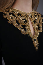 Load image into Gallery viewer, Vintage Gold Beaded Knit Dress